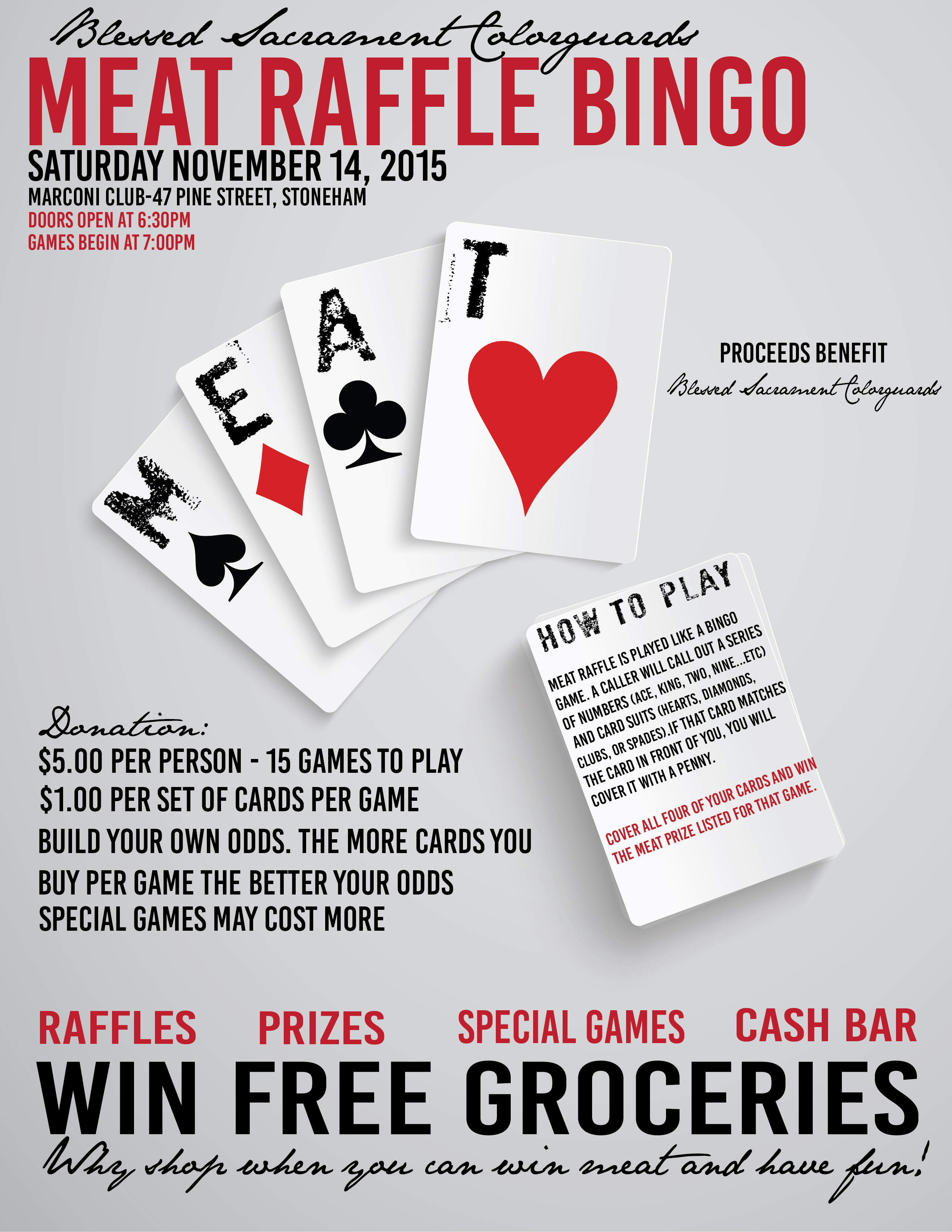 Join our Meat Raffle Bingo to Benefit Blessed Sac – Blessed ...